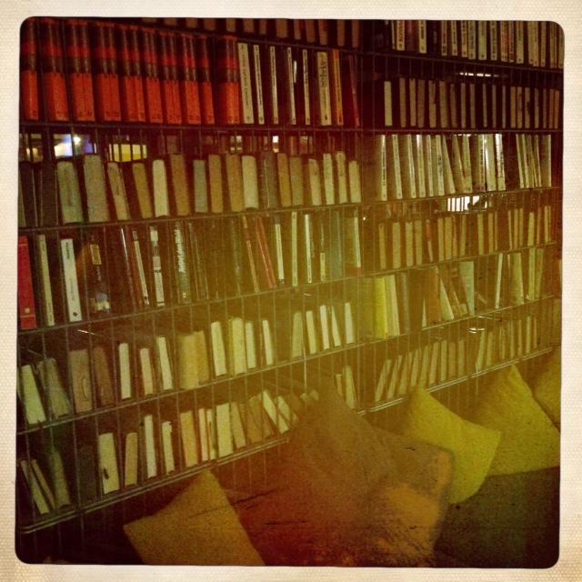 hipster bookshelf