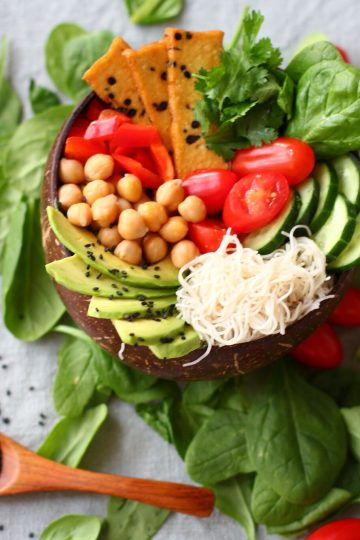 smoky nut butter buddha bowl